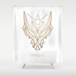 Wolfgun Custom Logo Shower Curtain