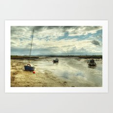 Three Little Boats Art Print