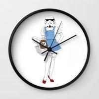 dorothy Wall Clocks featuring Dorothy trooper by Cisternas
