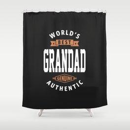 World's Best Grandad Shower Curtain