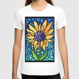 Standing Tall - Sunflower Art By Sharon Cummings T-shirt
