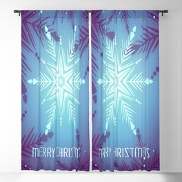 illustrations christmas snowflake star Blackout Curtain