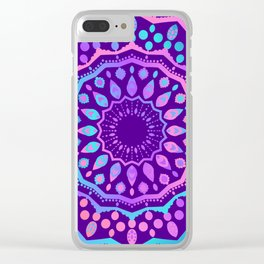 Ethnic Design Yoga Style Clear iPhone Case
