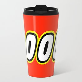 COOL in Brick Font by Chillee Wilson Travel Mug