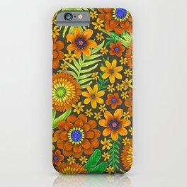 jewel tone floral iPhone Case