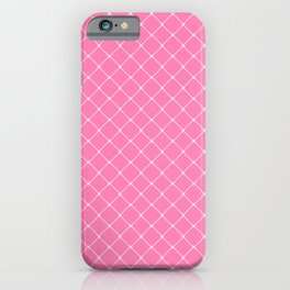 Pretty Pinks Classic Diagonal Grid iPhone Case
