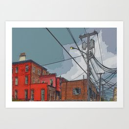 View from the alley - Night approaching Savannah Art Print