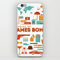 james bond iPhone & iPod Skins featuring James Bond 50 Years  by RLCNTRS