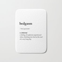 Bedgasm black and white contemporary minimalism typography design home wall decor bedroom Bath Mat