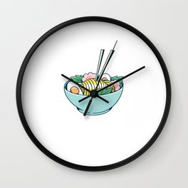 Ramen With Bowl Wall Clock