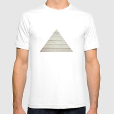 Wood MEDIUM White Mens Fitted Tee