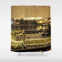 prague Shower Curtains featuring Prague 5 by Veronika