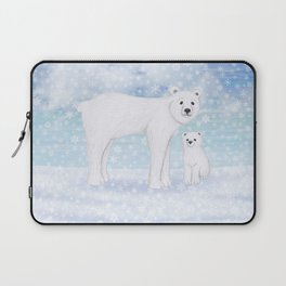 polar bears in the snow Laptop Sleeve