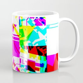 Glitch geometric pattern design artwork Coffee Mug