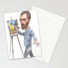 Van Gogh Paints Night Cafe Stationery Cards
