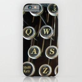 'Qwerty' Typewriter Keys Photo iPhone Case
