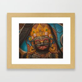 Temples and Architecture of Kathmandu City, Nepal 002 Framed Art Print