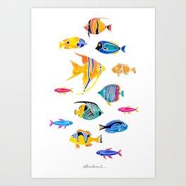 Aquatic Series 1: Fishes Art Print