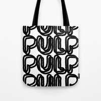 pulp Tote Bags featuring Pulp  by Kate Lowe