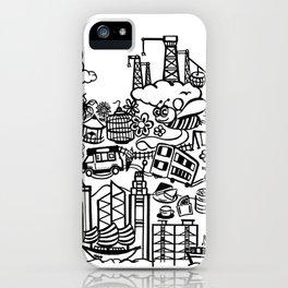 Hong Kong Creative Doodle iPhone Case