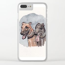 Deb's Dogs Clear iPhone Case