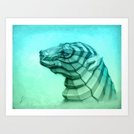 White Bear 2 Art Print