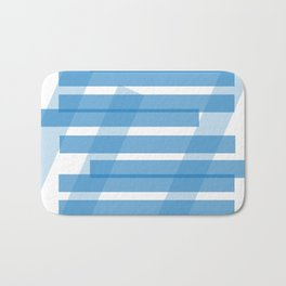 Electric Blue Slats Bath Mat