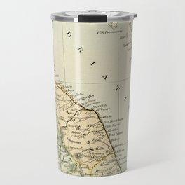 Retro & Vintage Map of Northern Italy Travel Mug