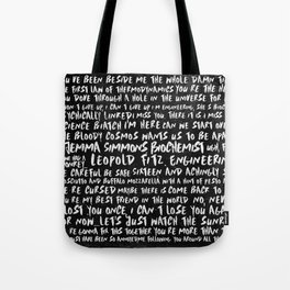 FitzSimmons Phrases in Black & White/2 Tote Bag