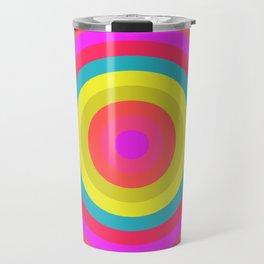 Pink Radial Travel Mug