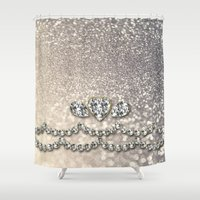bisexual Shower Curtains featuring Diamonds and sparkles I by Better HOME