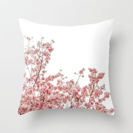 Cherry Blossoms (Color) Throw Pillow