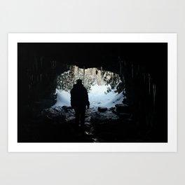 Caving Art Print