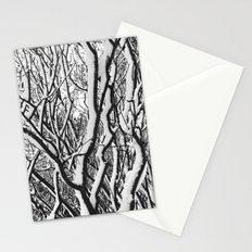 sleepy trees Stationery Cards