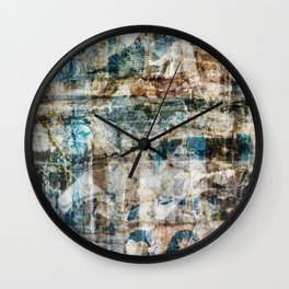 Torn Posters 1 Wall Clock