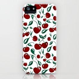 Cherries - repeat pattern iPhone Case