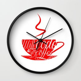 Will Code for Coffee Wall Clock