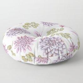Lavender Rose Garden Floral Pattern Floor Pillow