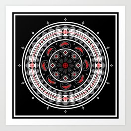 Bear Spirit (Black) Art Print