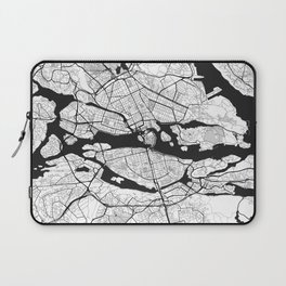 Stockholm Map Gray Laptop Sleeve