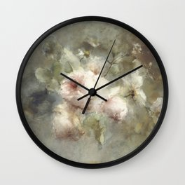 Een vaas met rozen by Margaretha Roosenboom (1853 -1896) Wall Clock