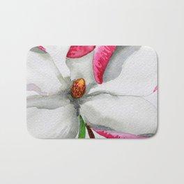 Watercolour Magnolia Bath Mat