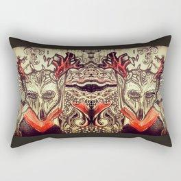 """""""Day of the Dead Animals, Deer"""" Rectangular Pillow"""