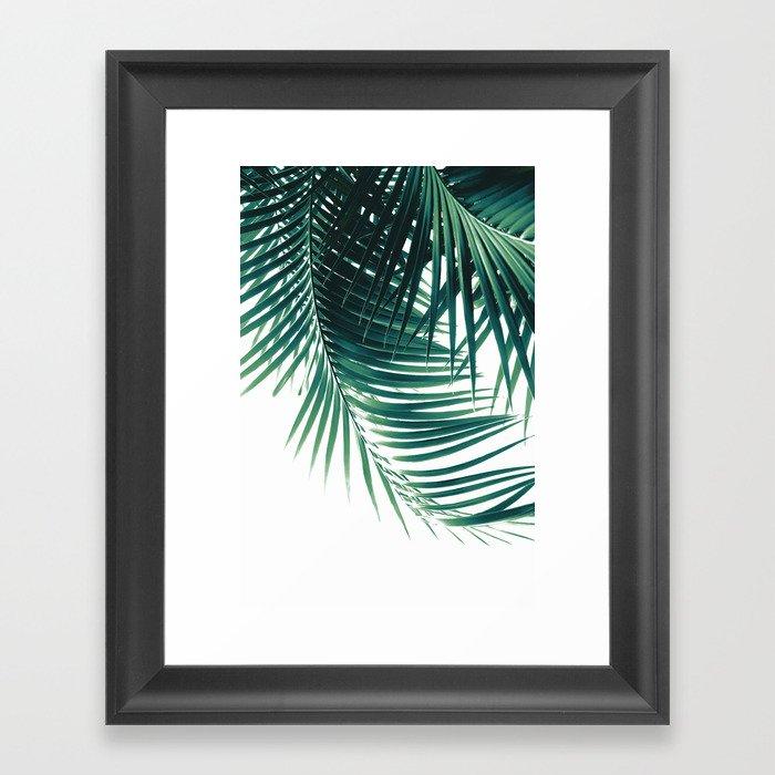 Palm Leaves Green Vibes #4 #tropical #decor #art #society6 Gerahmter Kunstdruck