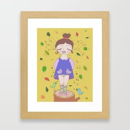You're dumb, not me. Framed Art Print