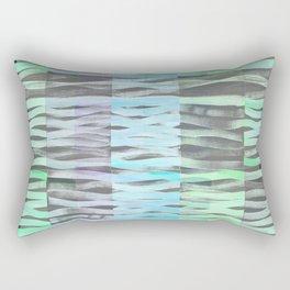 Wavy light green Rectangular Pillow