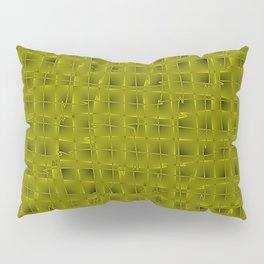 Square pastel curved stripes with imitation of the bark of a yellow tree trunk. Pillow Sham