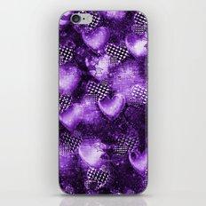 Light Bulb Hearts Series (purple) iPhone & iPod Skin