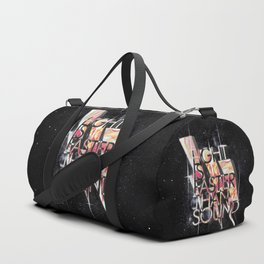 Light Is Faster Duffle Bag