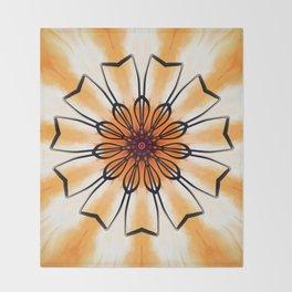 Marigold Flower Mandala Design Throw Blanket